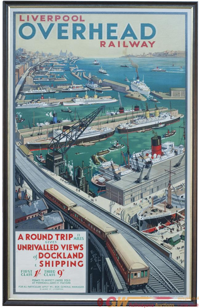 Poster LIVERPOOL OVERHEAD RAILWAY By W.T. Double