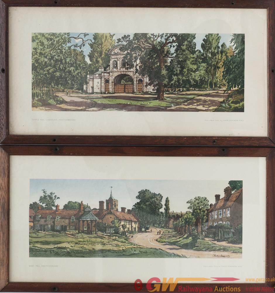 A Pair Of Carriage Prints; WESTMILL HERTFORDSHIRE