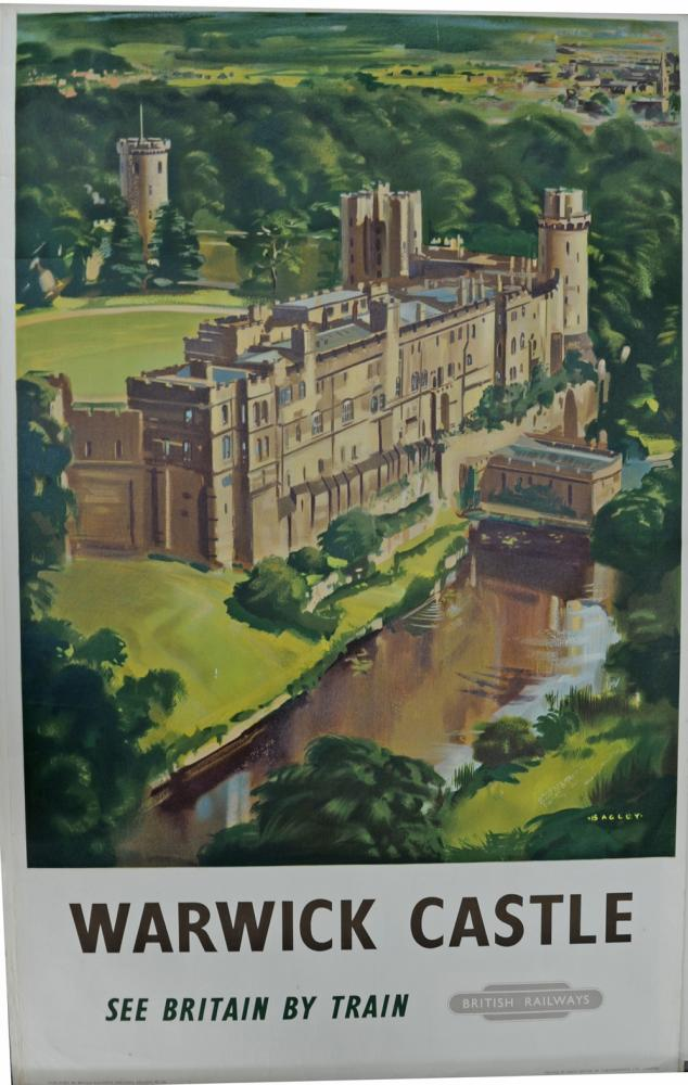 BR Poster, 'Warwick Castle' By Bagley, Double