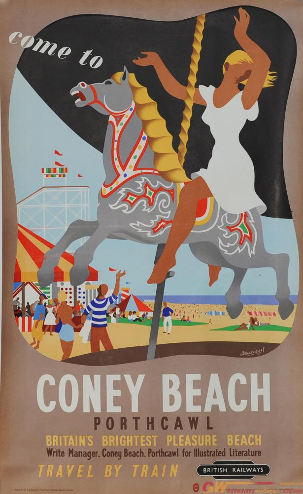 Poster British Railways 'Come To Coney Beach,