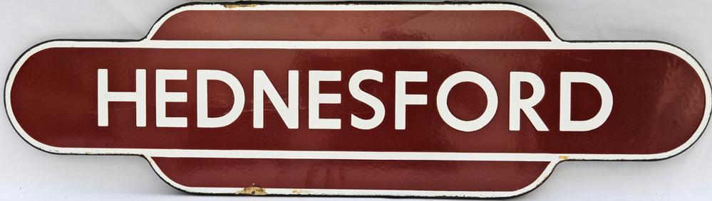 Totem BR(M) HEDNESFORD F/F. Ex L&NWR Station
