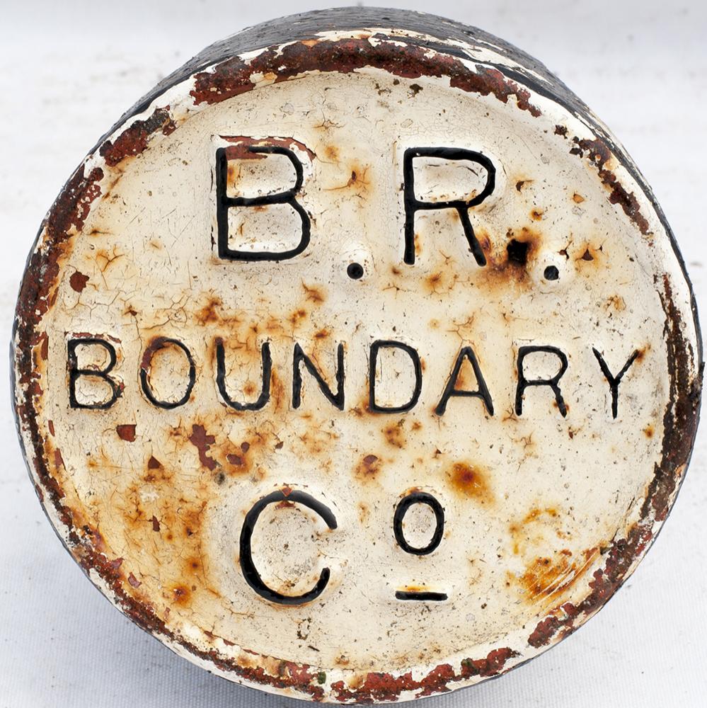 Barry Railway Cast Iron BOUNDARY POST In Good