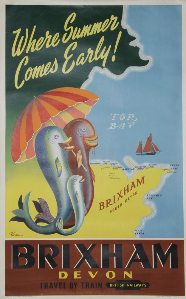 Poster, British Railways 'Brixham Devon - Where