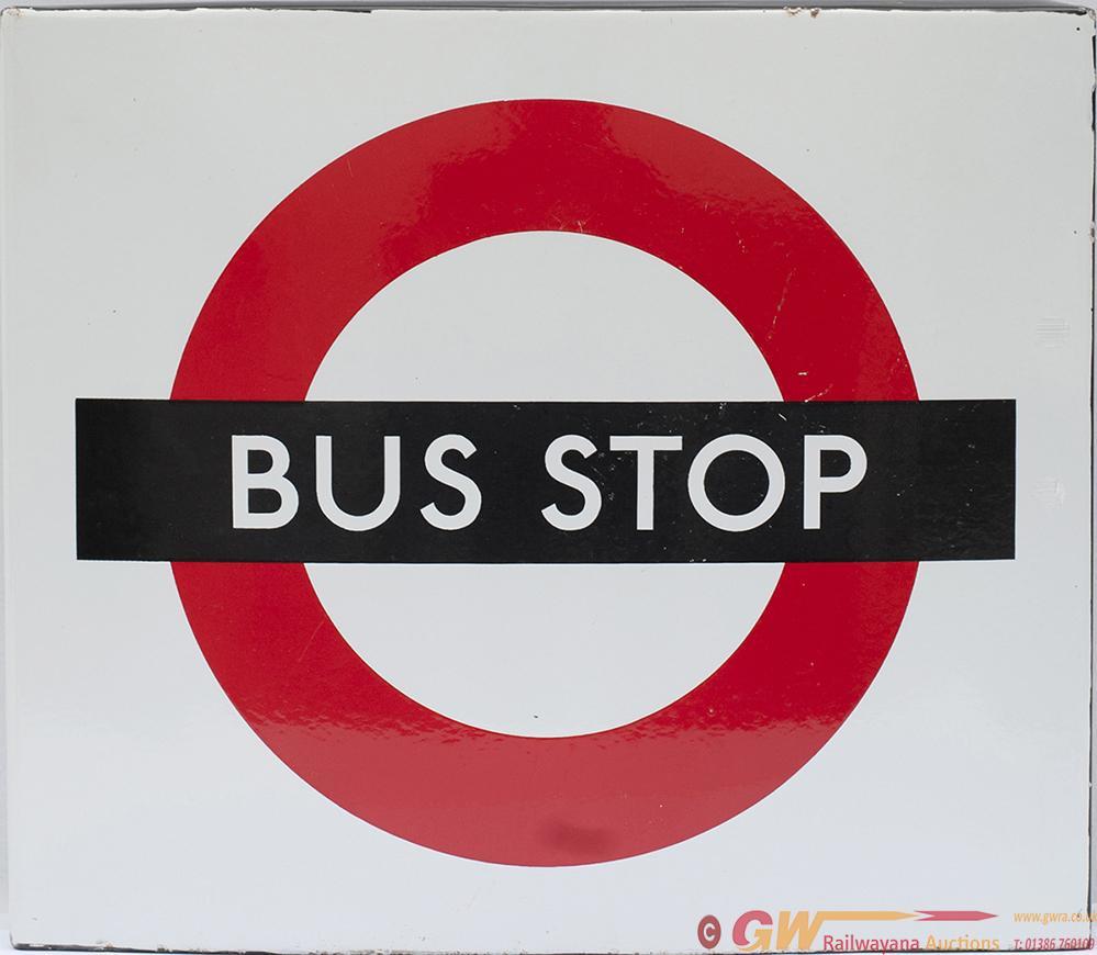 Bus Advertising Enamel Sign (London Transport) BUS