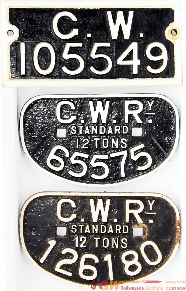 GWR Rectangular Wagon Plate Number 105549 Together