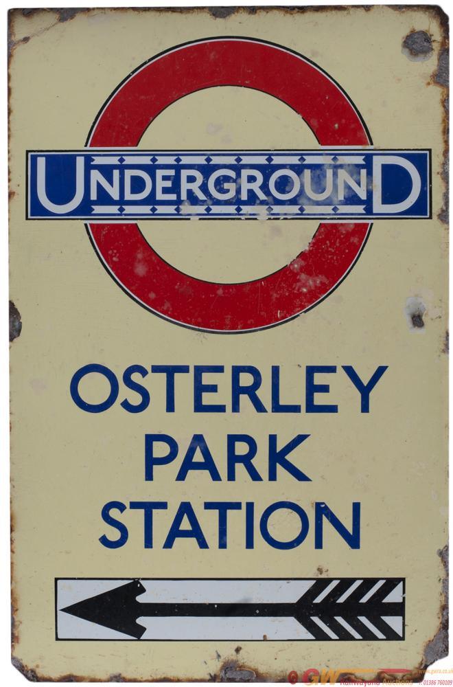 London Underground Enamel Station Direction Sign