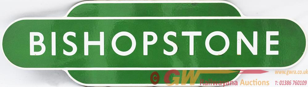 Totem BR(S) BISHOPSTONE F/F. Ex Southern Railway