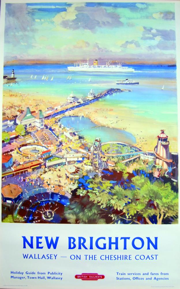 Poster, BR(M) D/R Size 'New Brighton And Wallasey
