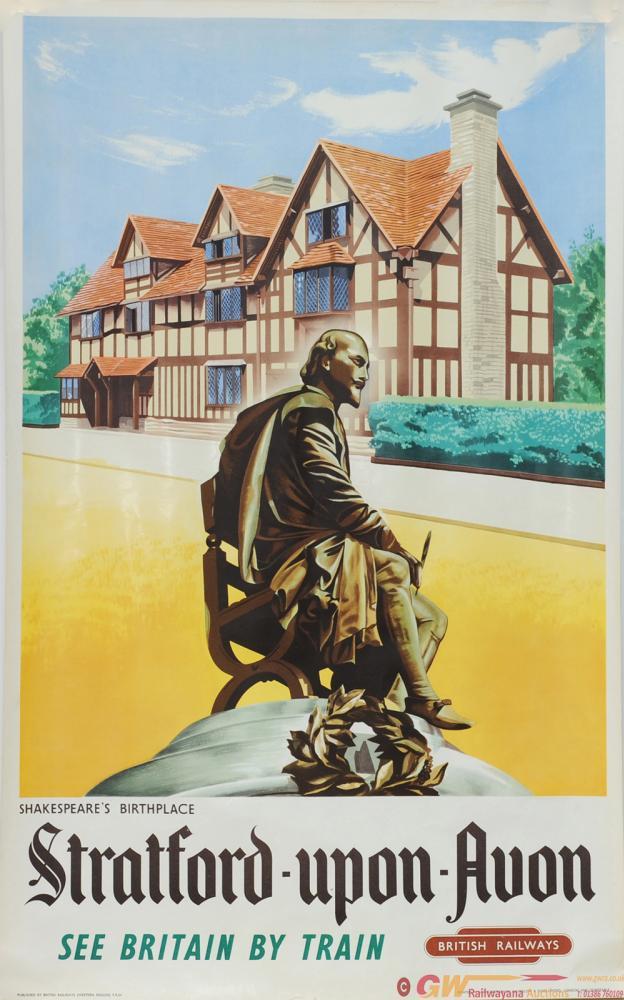 Poster BR 'Stratford-On-Avon Shakespeare's