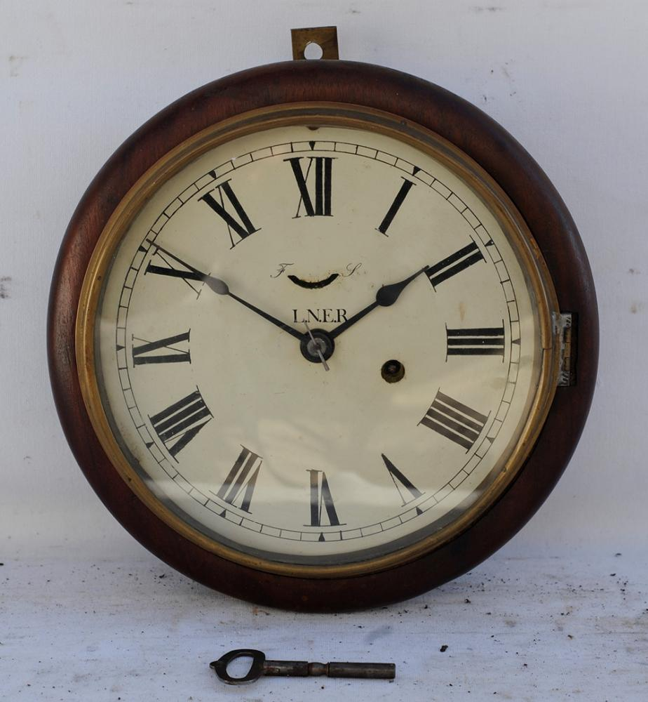 GER / LNER 8 Inch Spring Driven SIGNAL BOX CLOCK