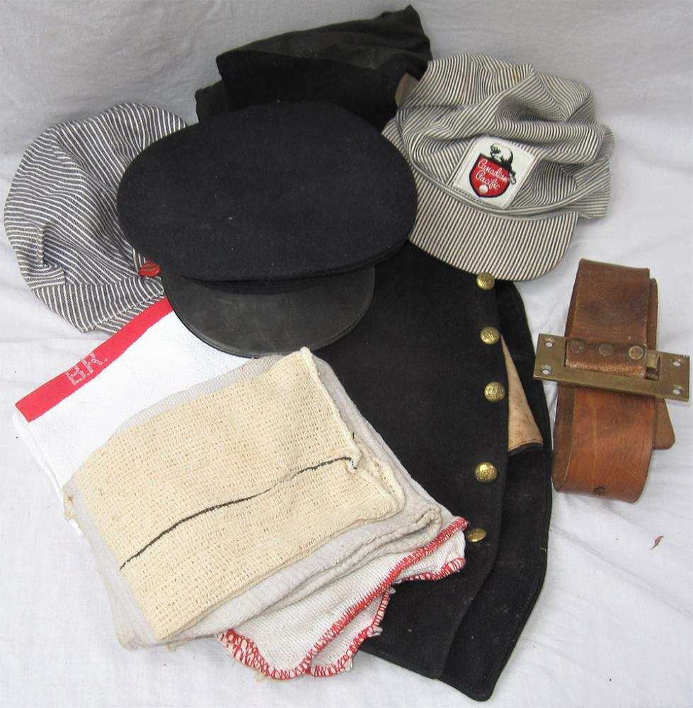 A Lot Containing Various Railway Caps, Cloths And