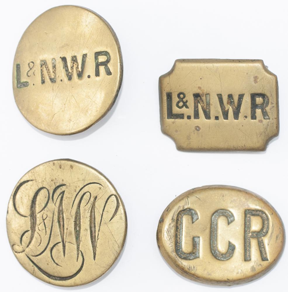<P>Railway Horse Brasses x4; L&NWR Circular, LNW