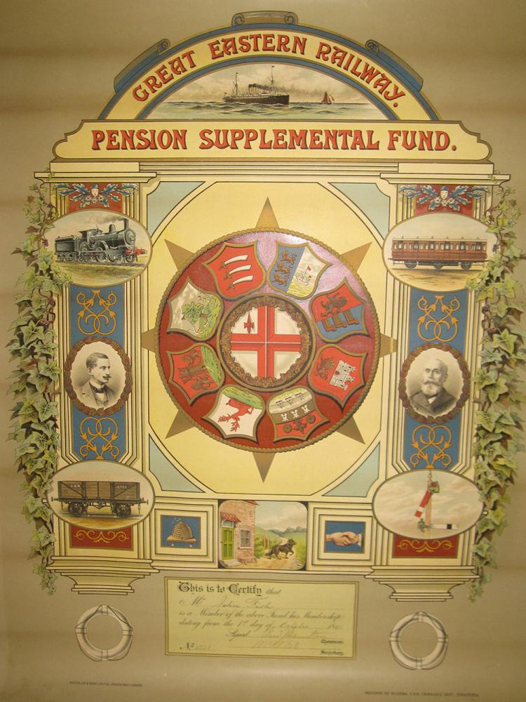 GER Unframed Pension Certificate In Good