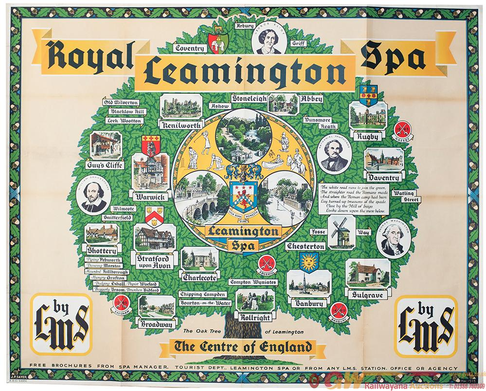 Poster LMS LEAMINGTON SPA BY LMS By John Pearson
