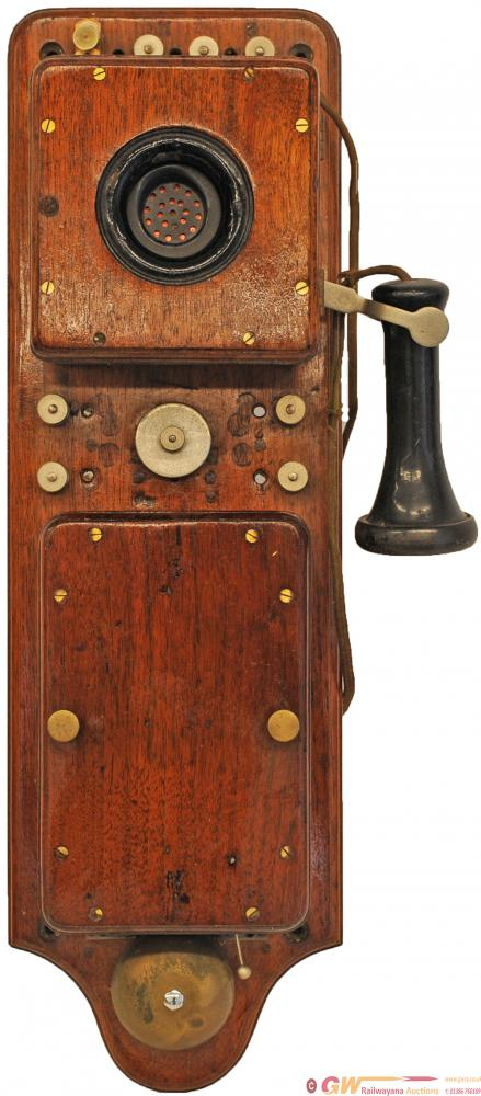 GWR Signal Box Telephone. Mahogany Cased 22in X
