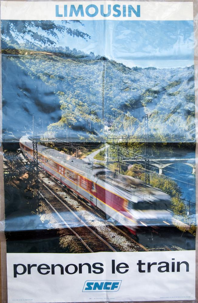 SNCF Double Royal Poster Limousin Prenons Le