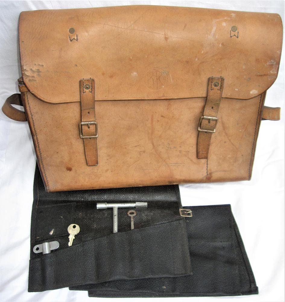 BR Guards Tanned Leather Bag With Shoulder Strap