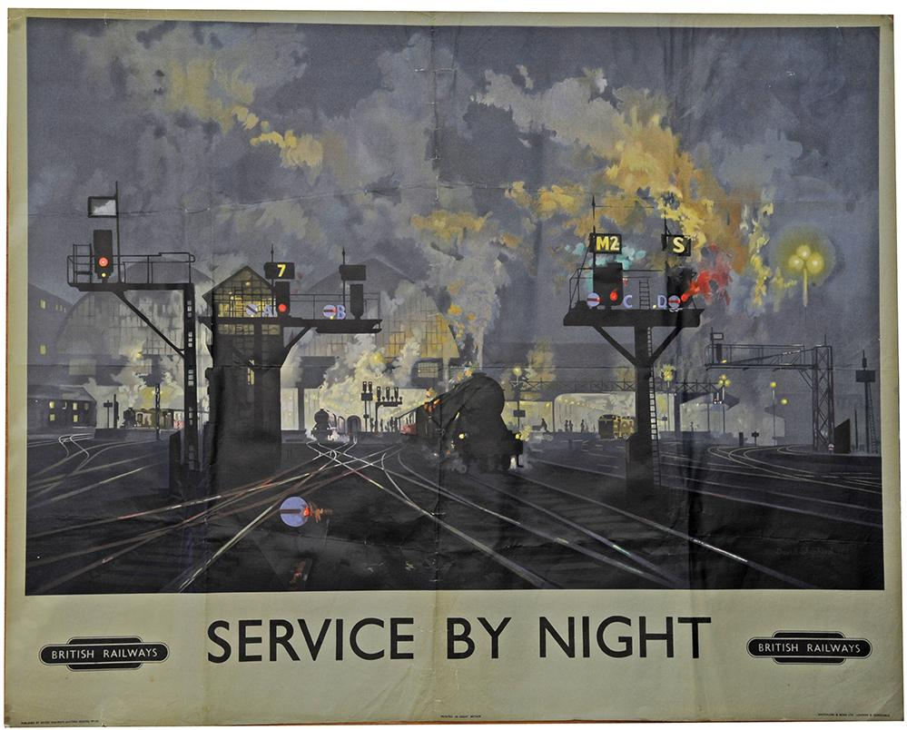 Poster, British Railways 'Service By Night' By