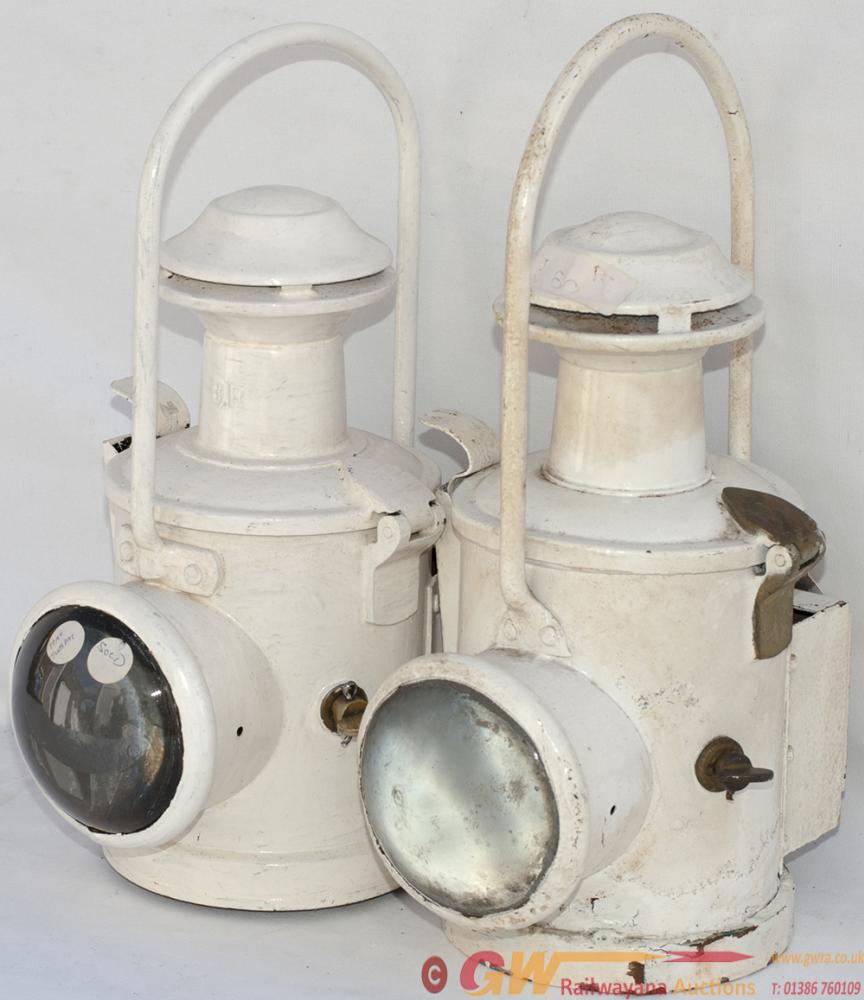 BR(E) Locomotive Lamps x2, Both Complete With