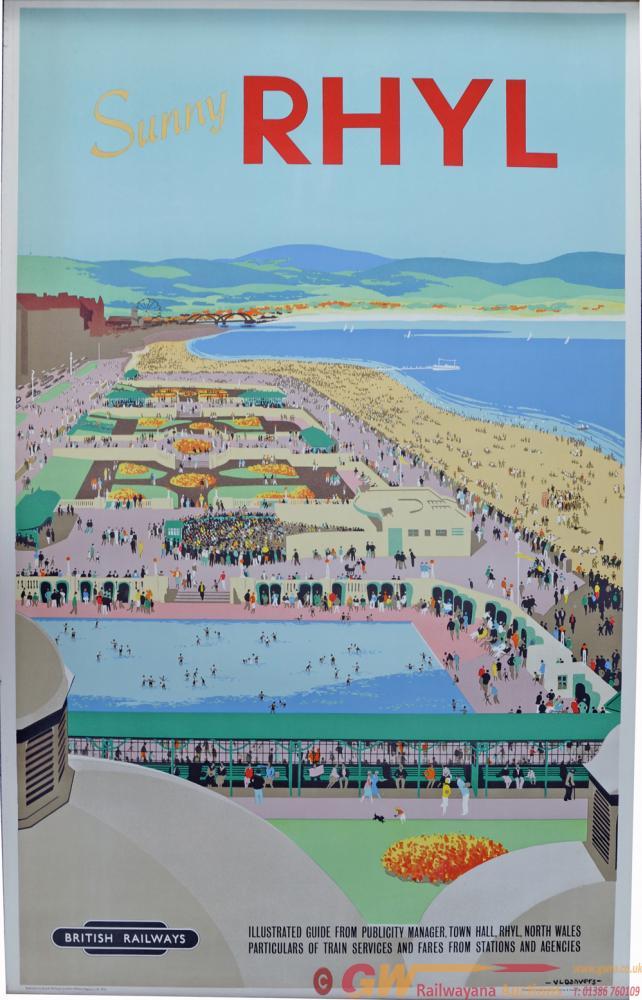 BR Poster, Sunny Rhyl, By Verney Danvers, D/R