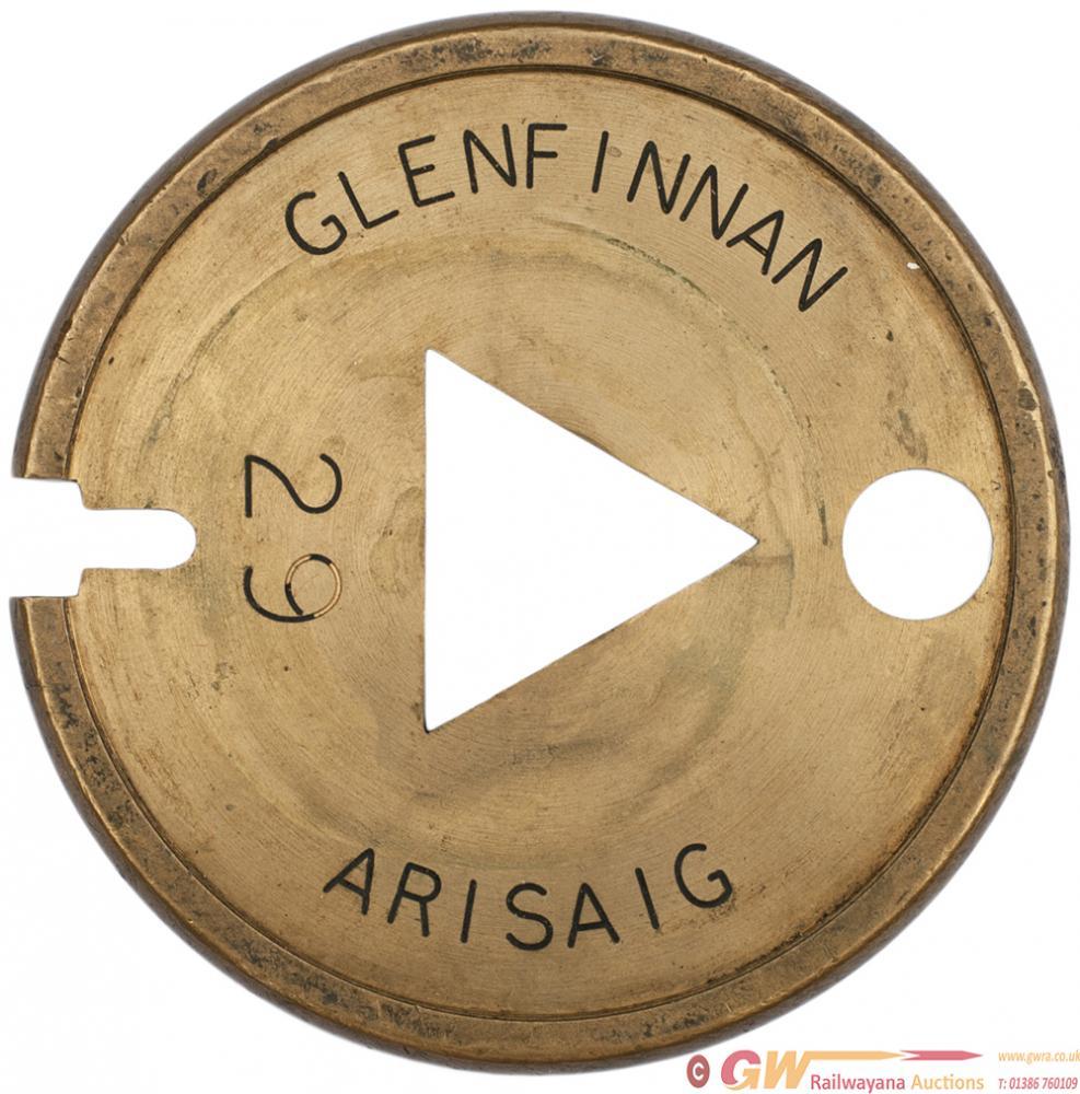 Brass Single Line Tablet GLENFINNAN - ARISAIG