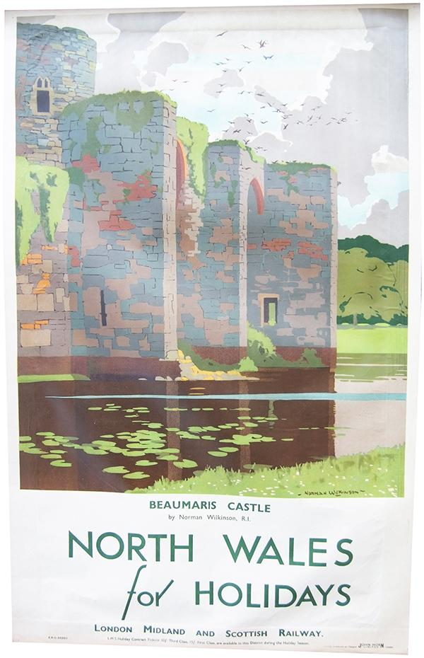 Poster LMS 'Beaumaris Castle North Wales For