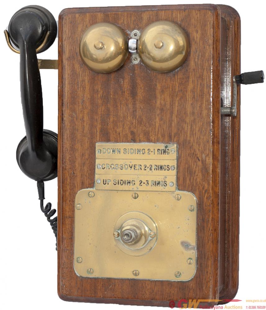 GWR Signal Box Telephone Complete With Handset And