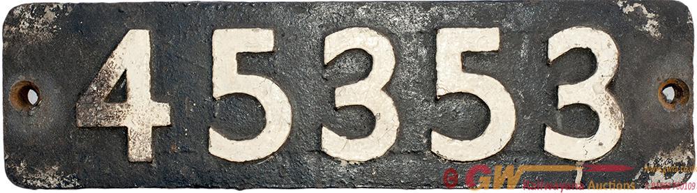 Smokebox Numberplate 45353 Ex LMS Stanier Class 5