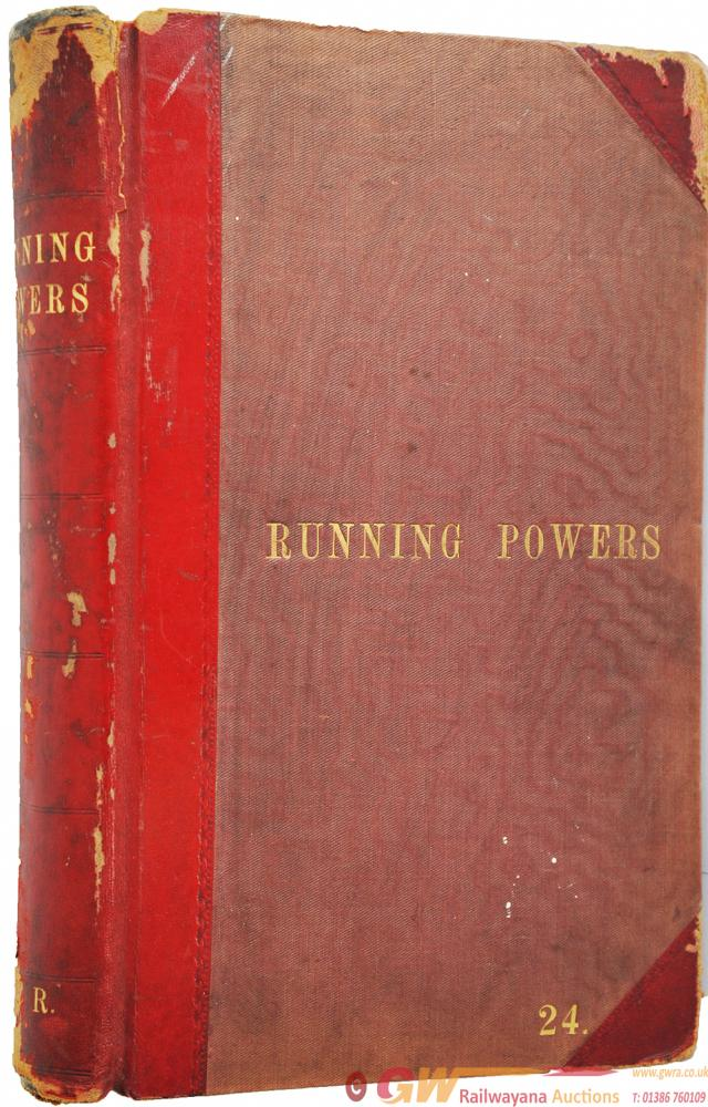 GWR Running Powers Book No 24. A Quite Stunning