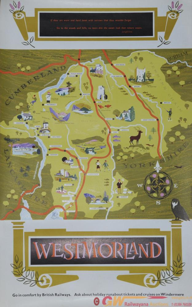 Poster British Railways 'Westmorland' By Daphne