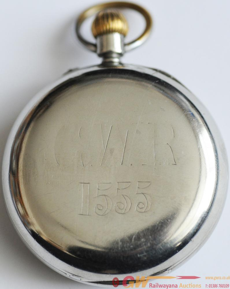 GWR Nickel Plated Pocketwatch By Rotherhams.