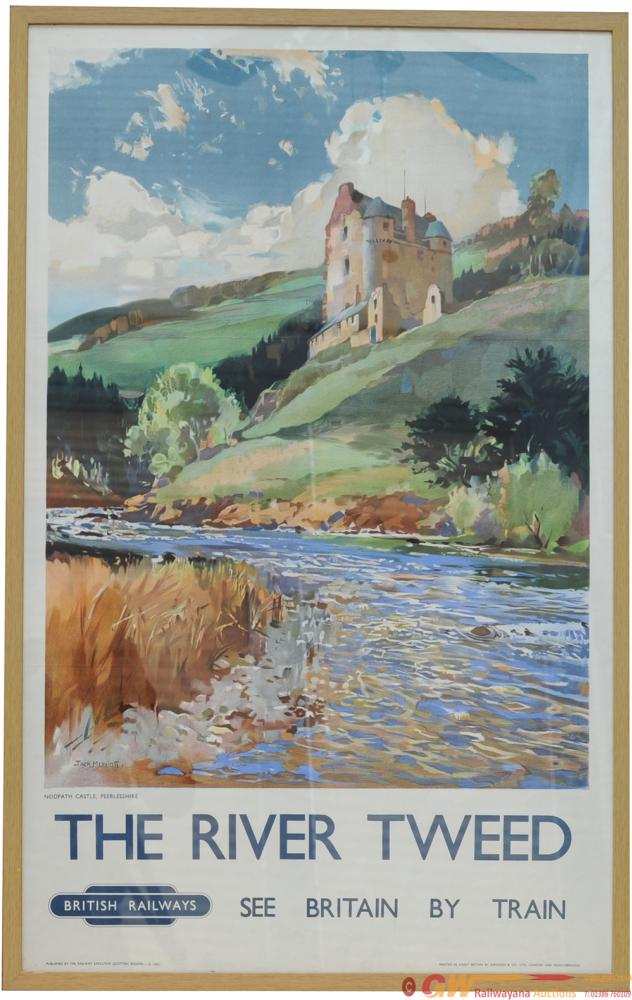 Poster - 'The River Tweed' By Jack Merriott Double