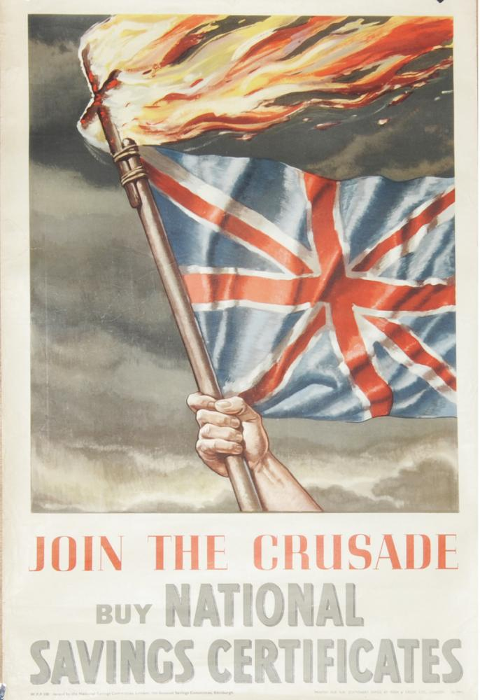 Wartime Poster, 'Join The Crusade - Buy National