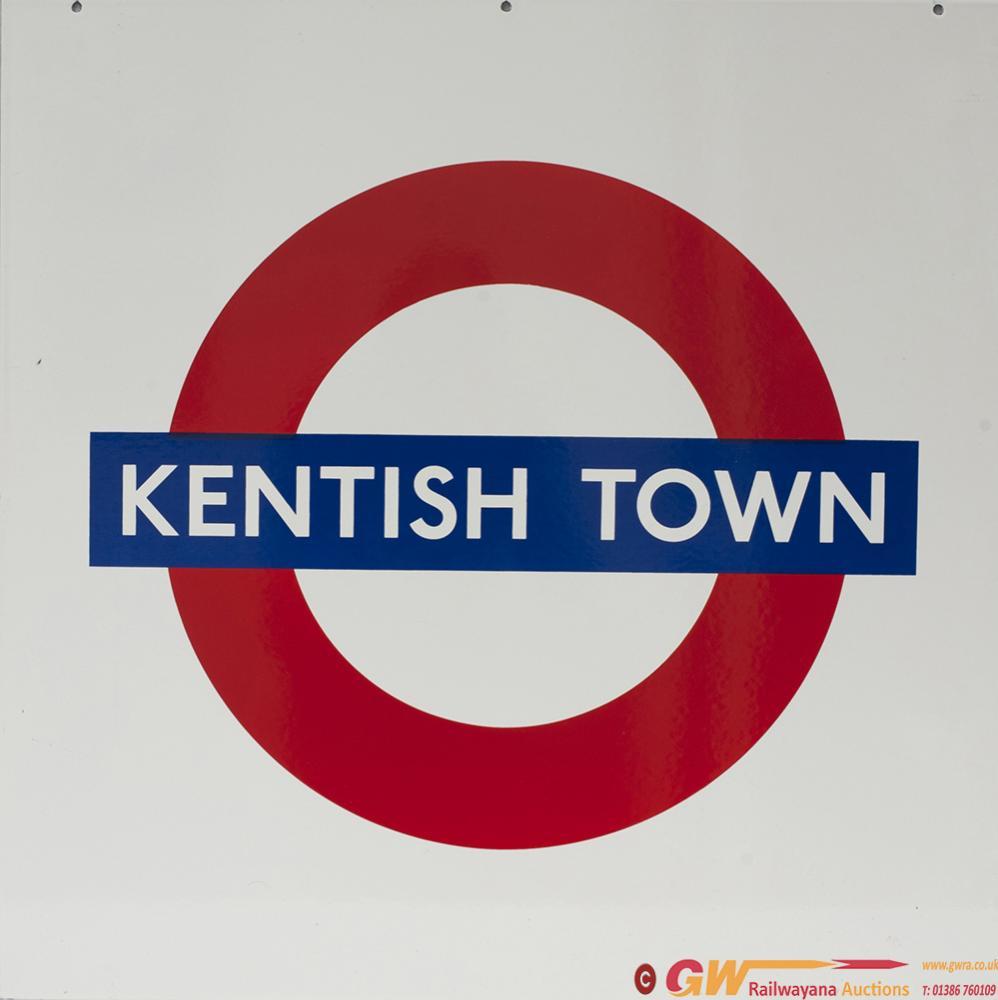 London Underground Enamel Target / Bullseye Sign