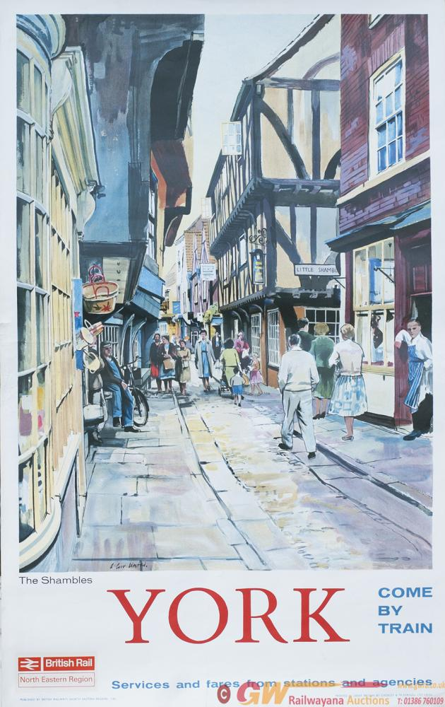 Poster BR YORK THE SHAMBLES By A. Carr Linford.