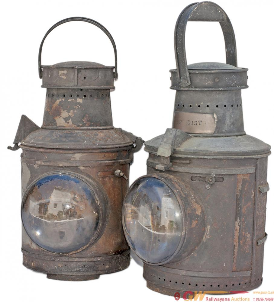 A Pair Of Victorian Large Signal Lamp Cases, One