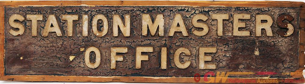 GWR Wooden Sign With Cast Letters STATION MASTER