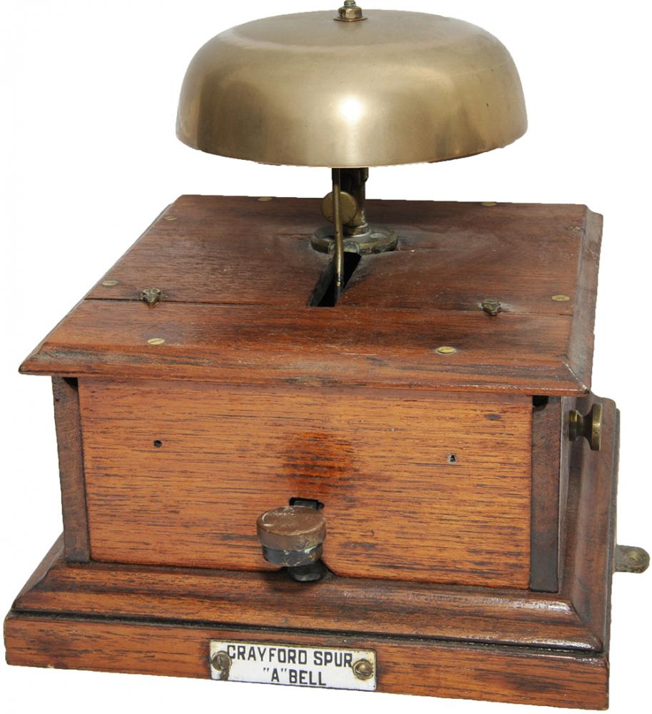 SE&CR Mahogany Cased Block Bell With Split Case