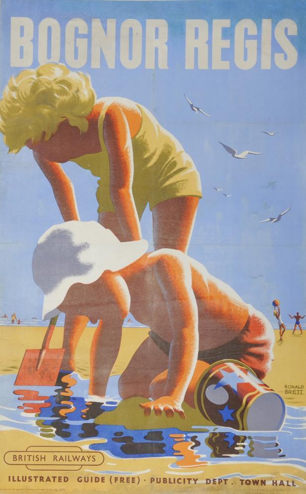 Poster BR, 'Bognor Regis' By Ronald Brett, D/R