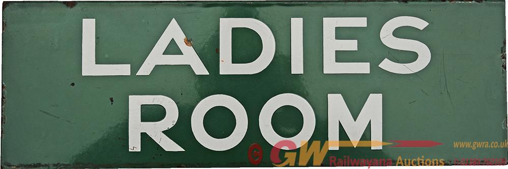 Southern Railway Enamel Doorplate LADIES ROOM, 18