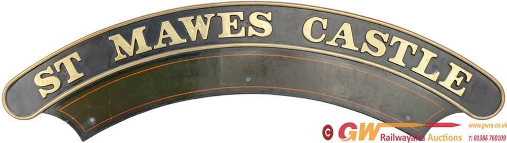 Nameplate ST MAWES CASTLE. Ex GWR Castle 4-6-0