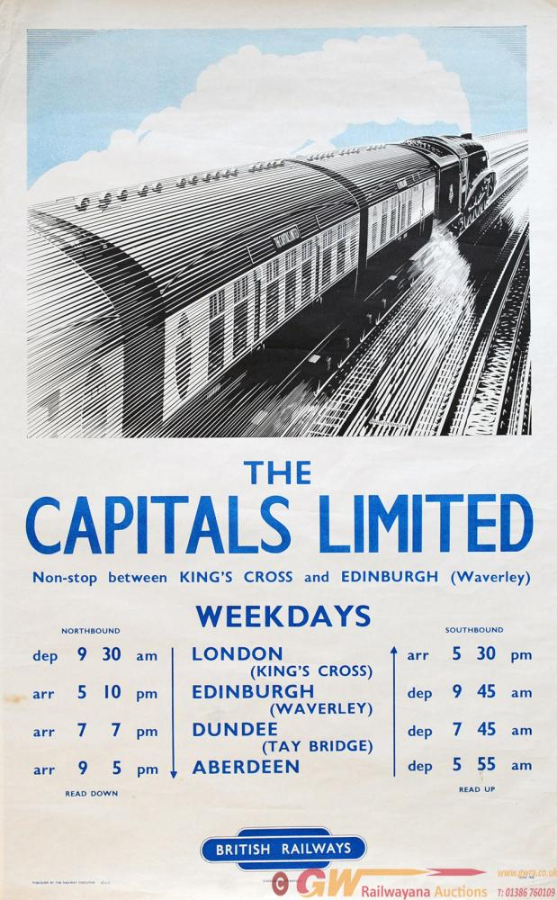 Poster British Railways 'The Capitals Limited -