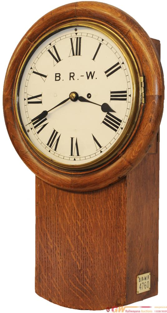 BR-W /LNWR 10 Inch Oak Cased Drop Dial Fusee