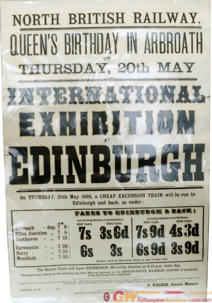 North British Railway Letterpress Poster, Queens