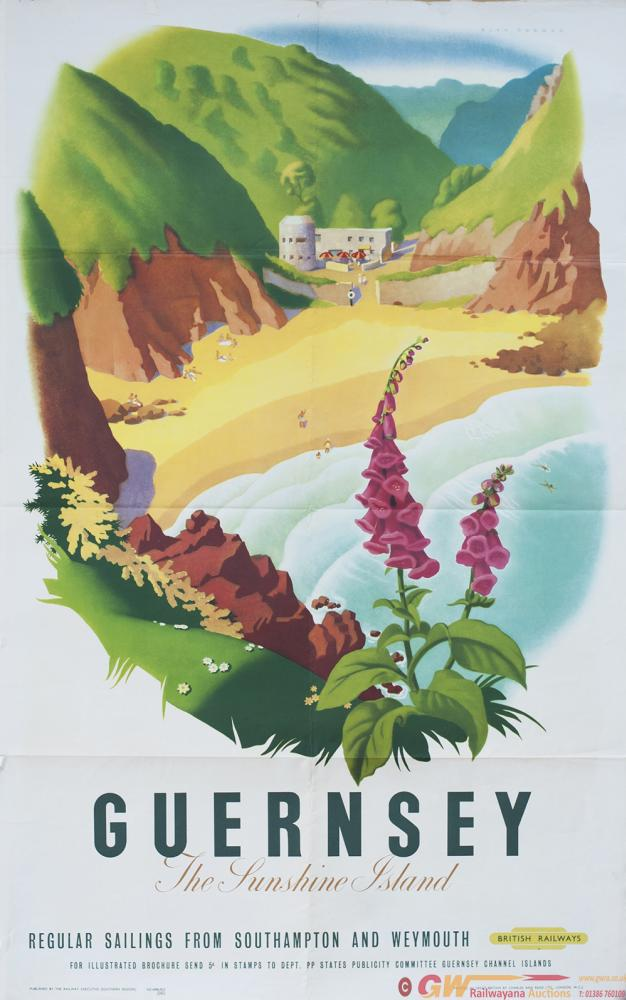 Poster BR(S) GUERNSEY THE SUNSHINE ISLAND By Alan