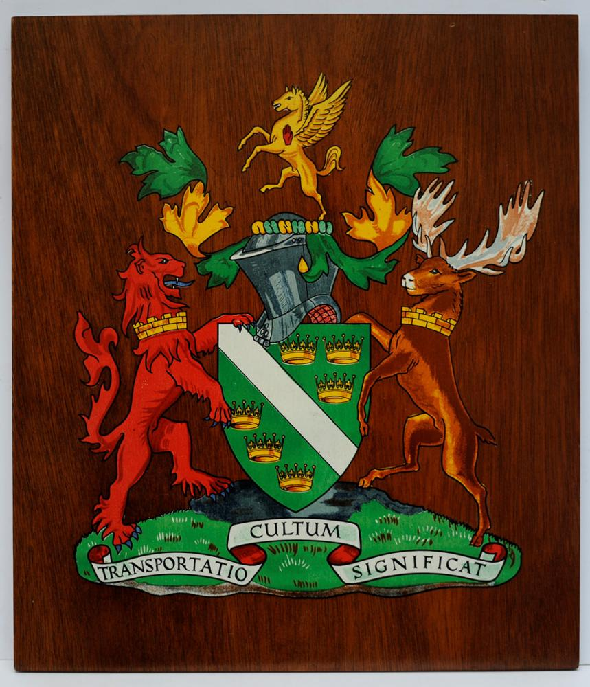 Ulster Transport Authority Mounted Crest. The
