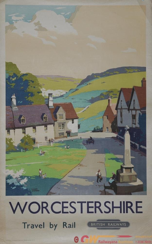 Poster British Railways 'Worcestershire' By Frank