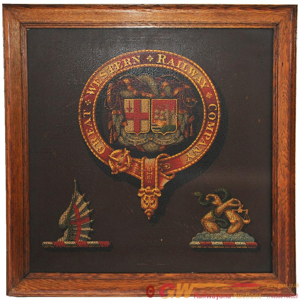 Early 19th Century GWR Coat Of Arms On What