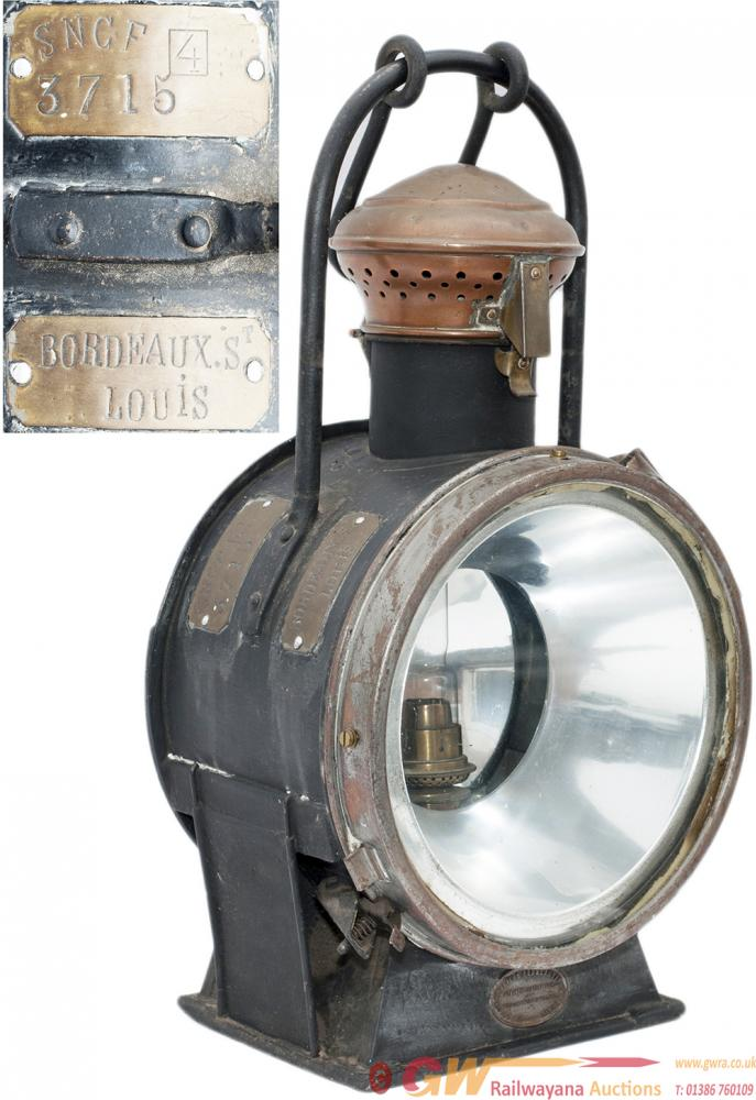 French Locomotive Headlamp From The Former SNCF