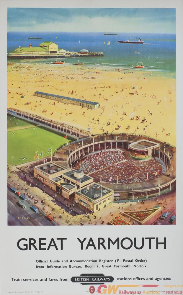 Poster BR GREAT YARMOUTH By Bagley. Double Royal